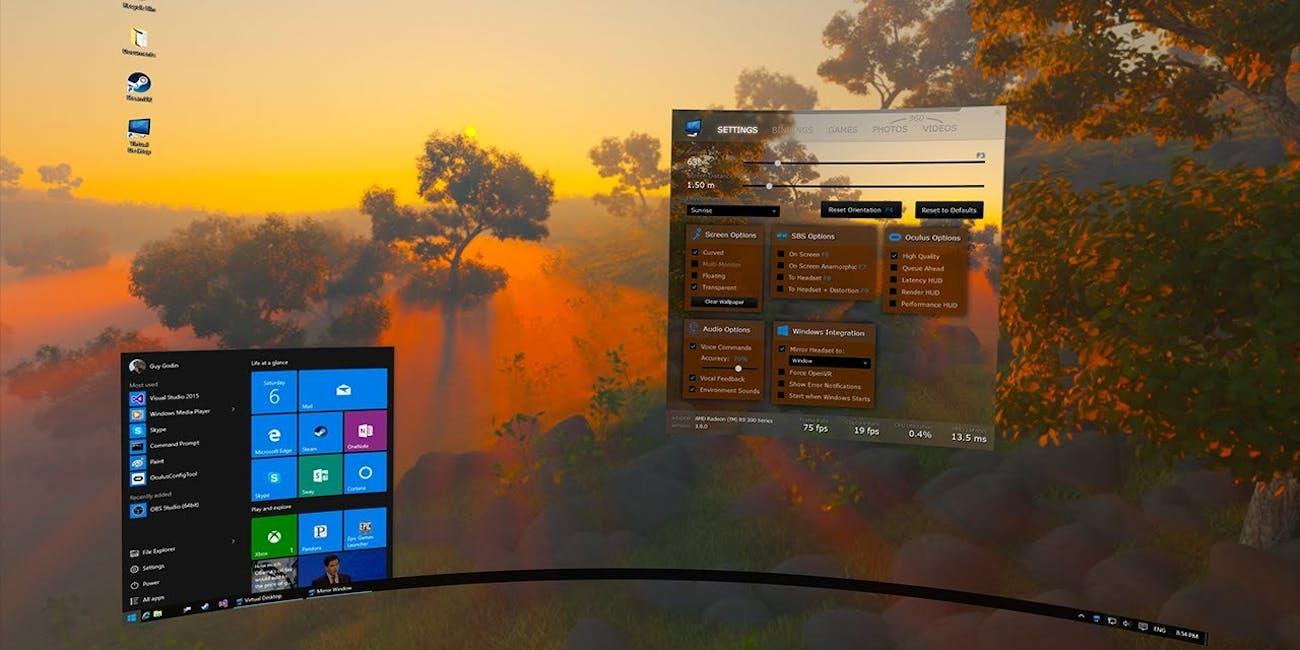 Virtual Desktop, a New Oculus Rift App, Will Make You Ditch
