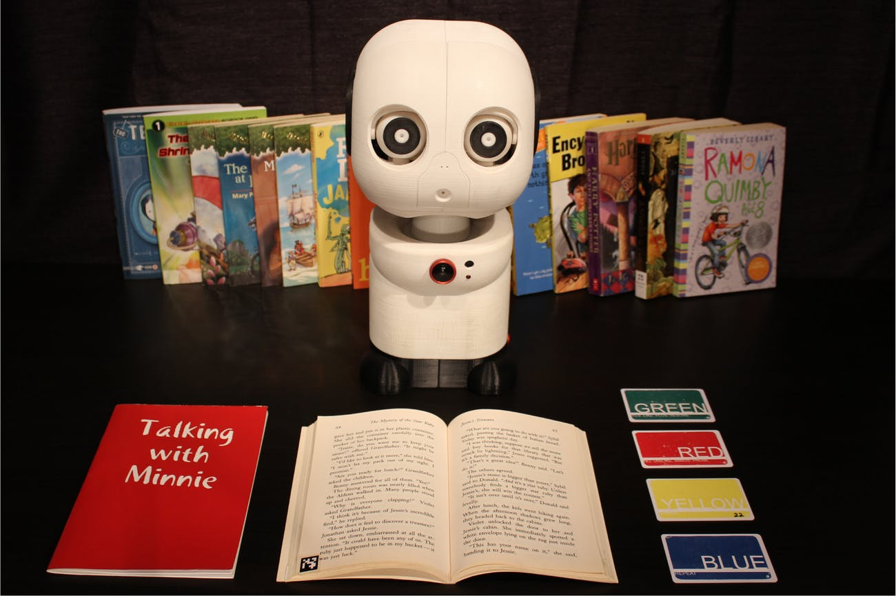 Minnie the reading robot