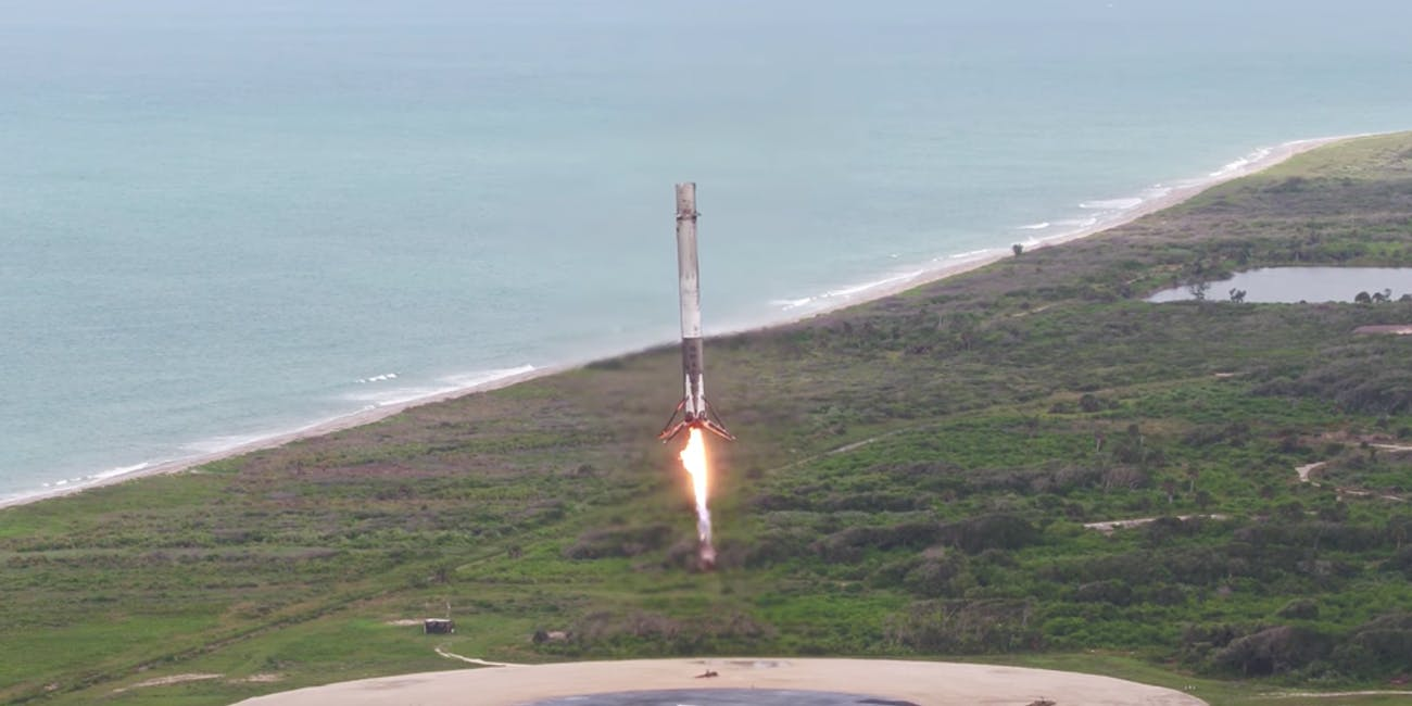 SpaceX Falcon 9 landing at LZ-1