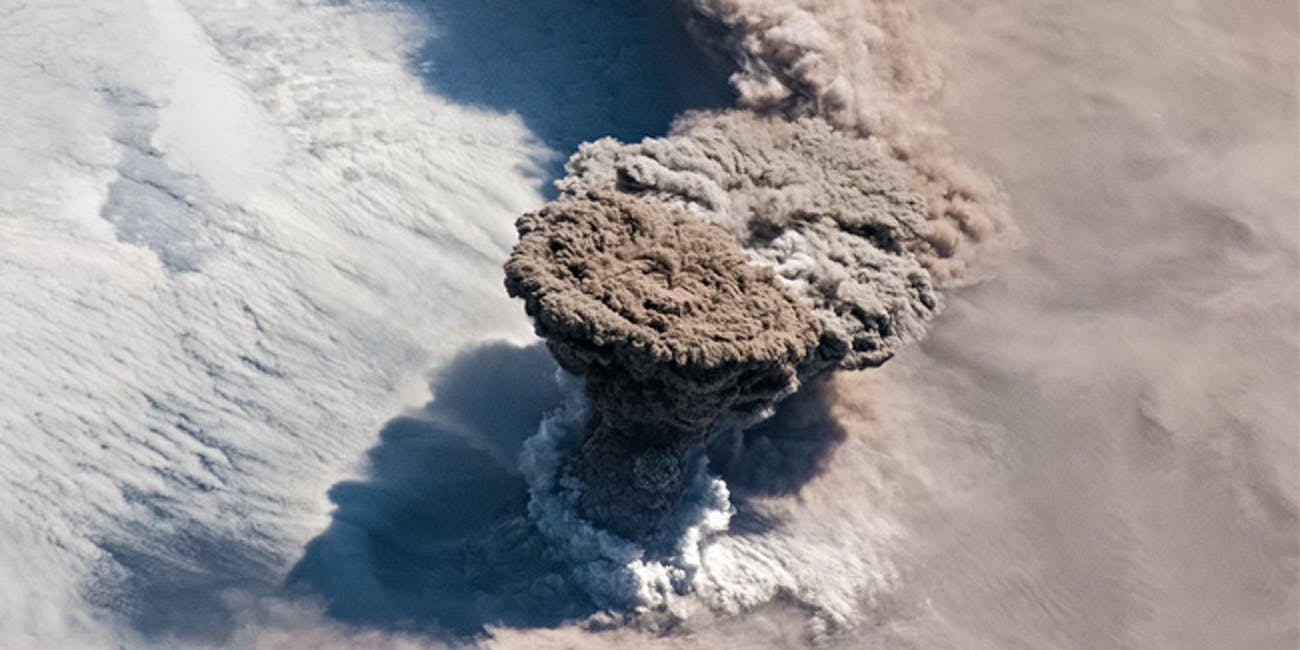 The volcano Raikoke, which last erupted in 1924, expelled an enormous ash plume visible from orbit