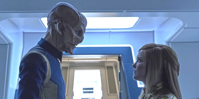 Saru and Tilly talk about Fungus on 'Star Trek: Discovery.'