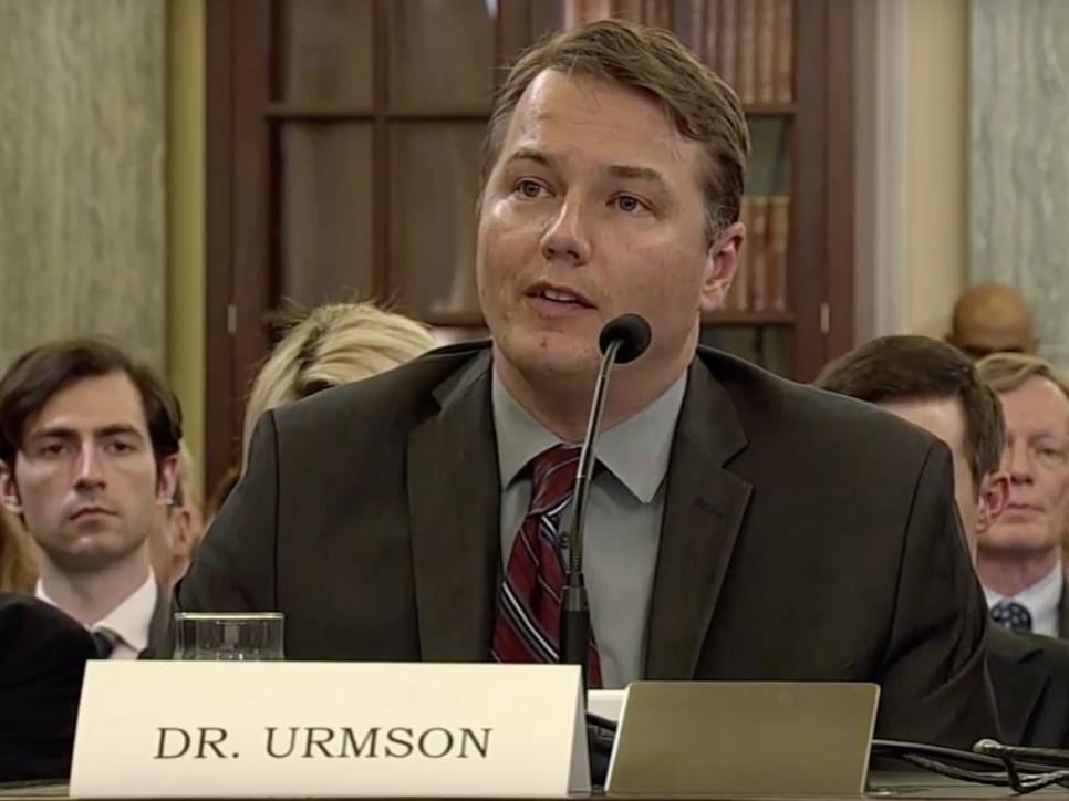 Mr. Urmson goes to Washington.