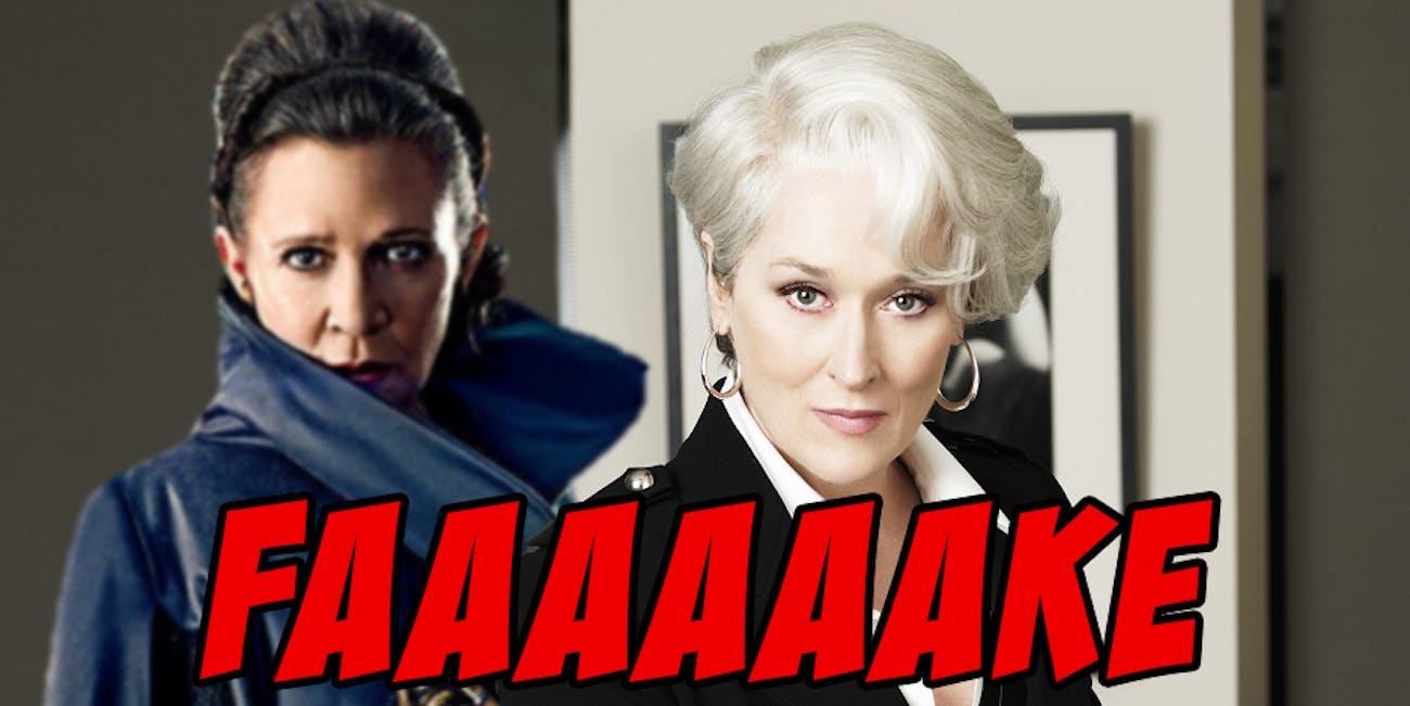 Leia is not Streep.