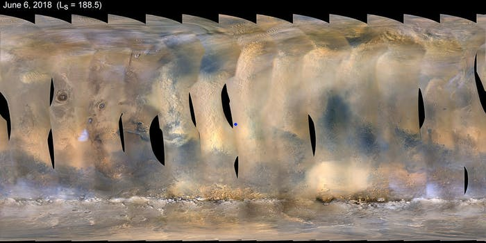 opportunity rover dust storm
