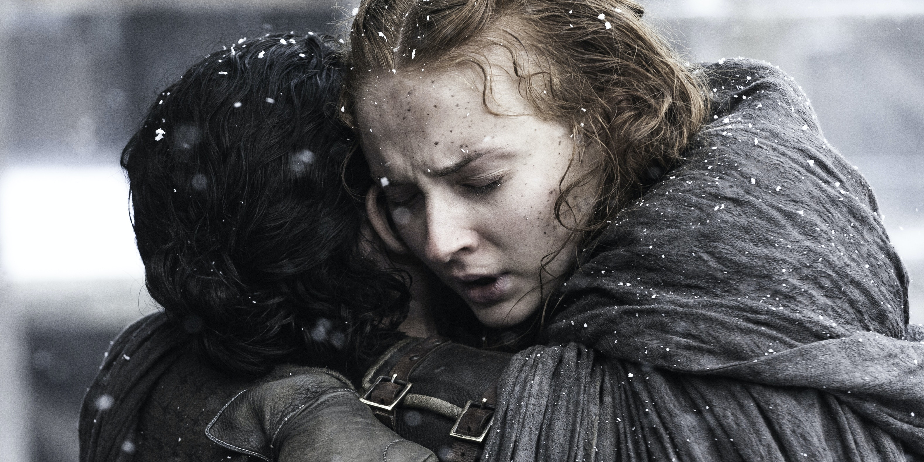 Kit Harington and Sophie Turner in 'Game of Thrones'