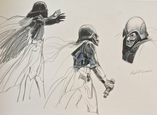 McQuarrie's previously unpublished concept sketches for Darth Vader.