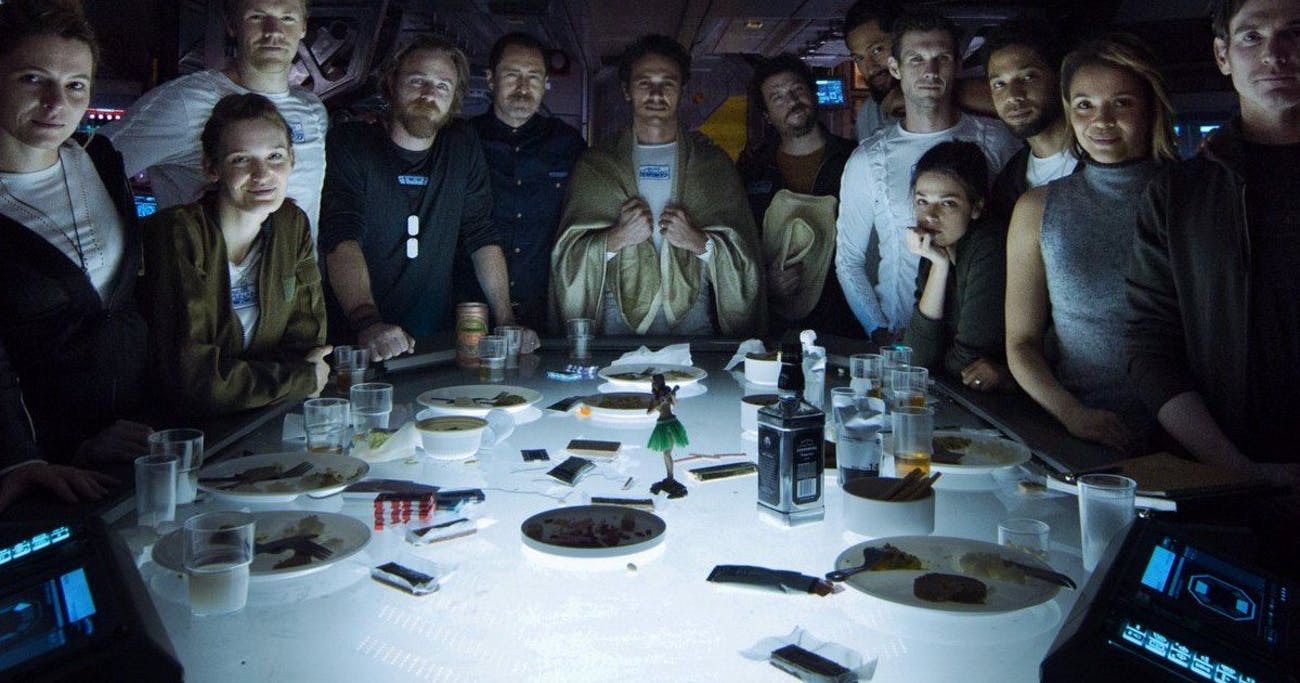 James Franco in a scene that doesn't appear in 'Alien: Covenant'