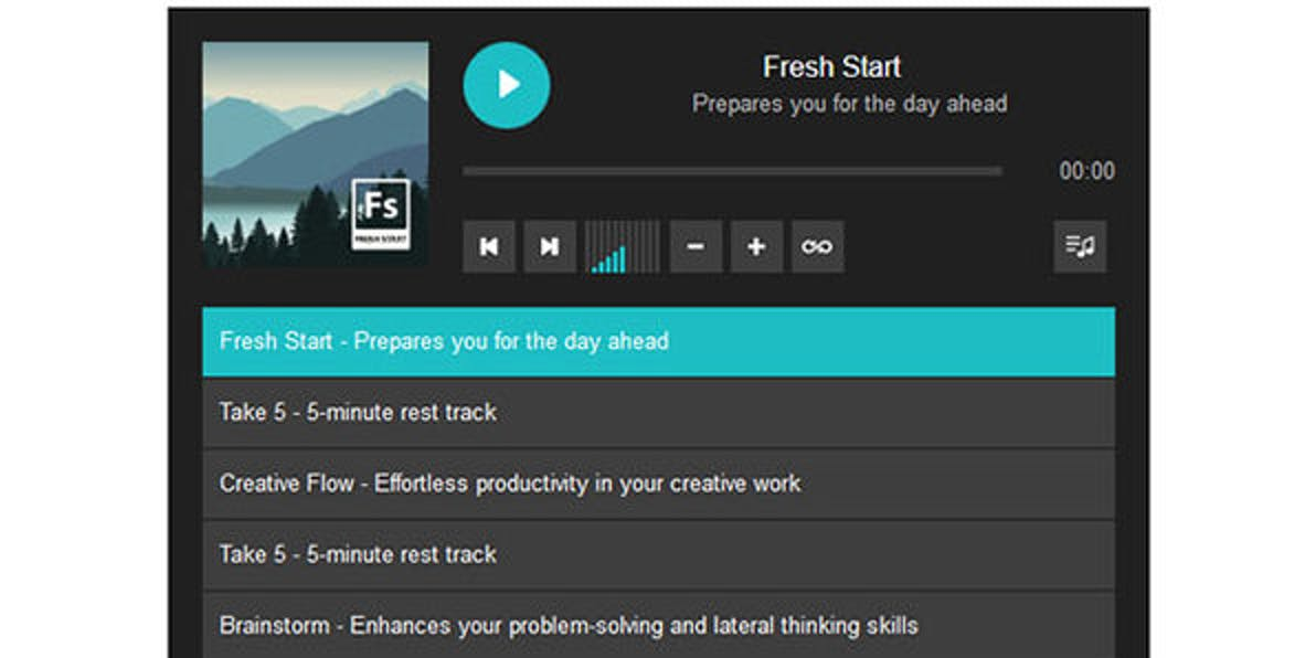 iAwake Pro offers a variety of tracks for work life balance