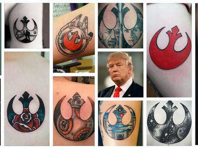 Brace for the Trump-Era 'Star Wars' Tattoo Boom