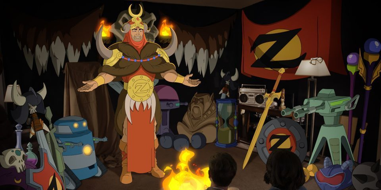 Zorn loves Zephyrian culture, which looks a lot like a 1980s suburban garage.