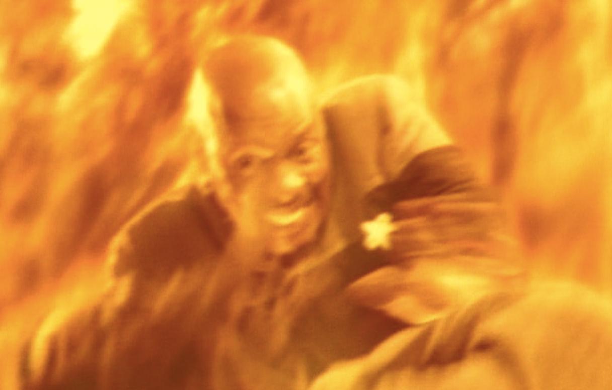 'Deep Space Nine's' Captain Sisko just before his martyrdom
