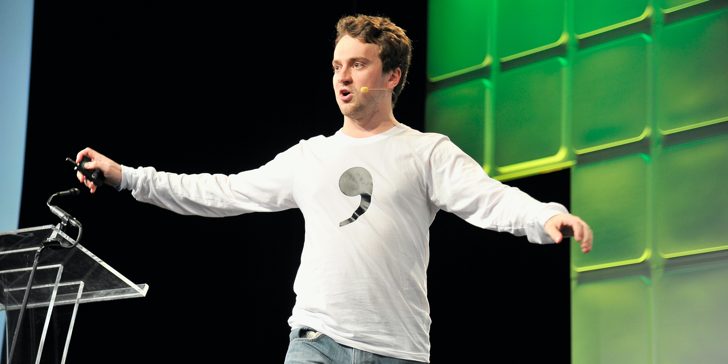 SAN FRANCISCO, CA - SEPTEMBER 13:  CEO of Comma.ai George 'Geohot' Hotz speaks onstage during TechCrunch Disrupt SF 2016 at Pier 48 on September 13, 2016 in San Francisco, California.  (Photo by Steve Jennings/Getty Images for TechCrunch)