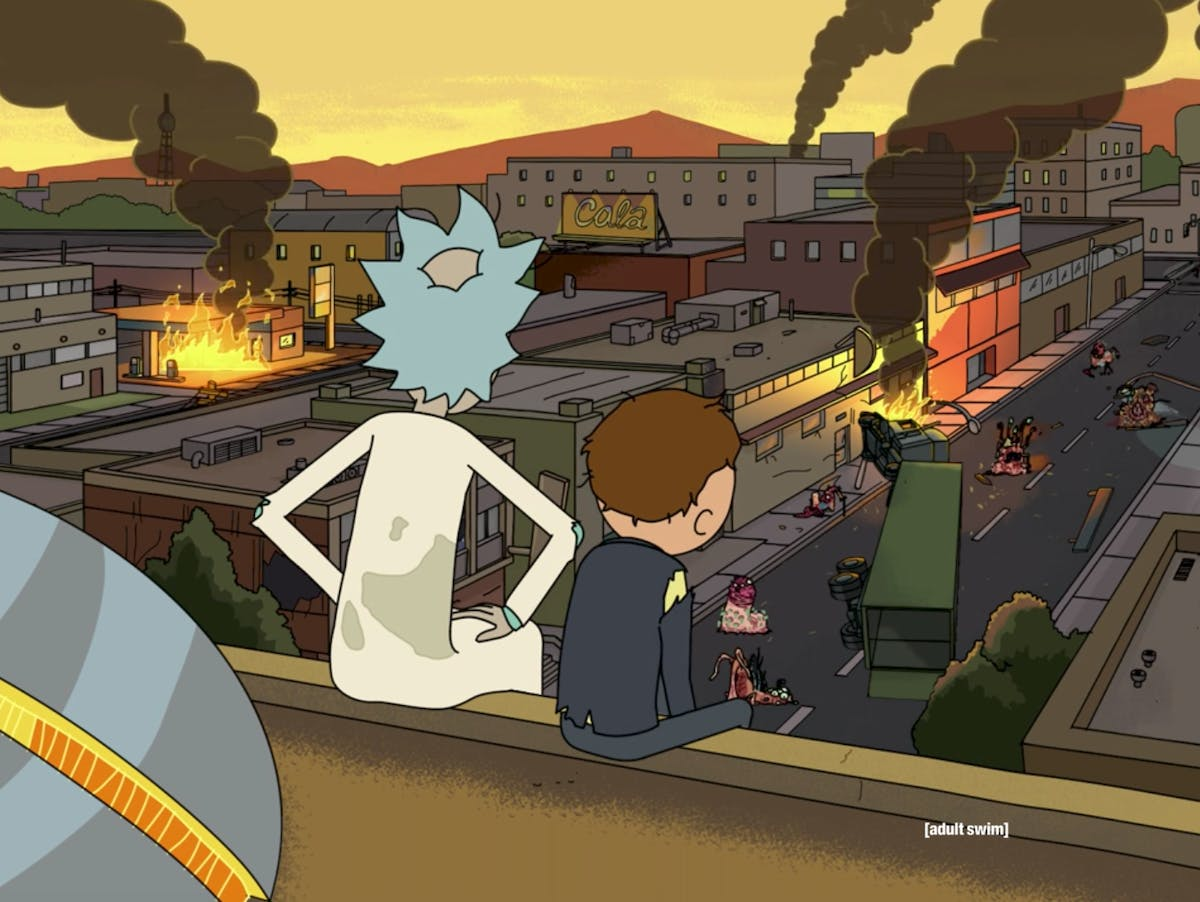 Rick and Morty destroyed the planet with a mutated virus.