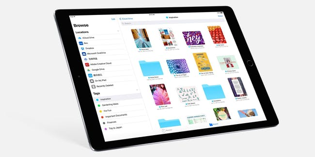 The new Files app.