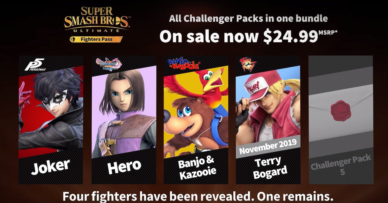 nintendo super smash bros DLC fighters