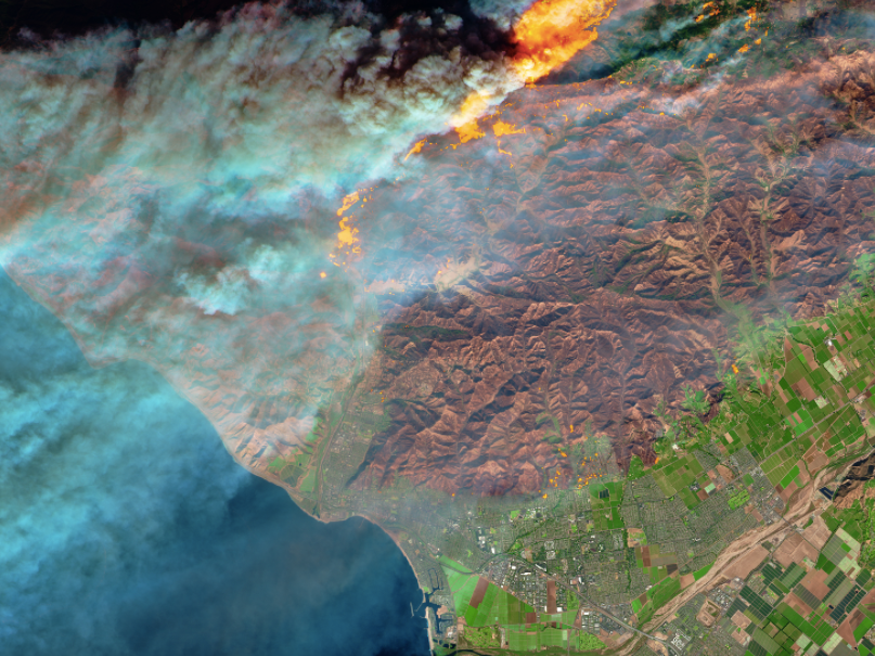 California Fires Seen In Nasa Pictures Show The Devastation From