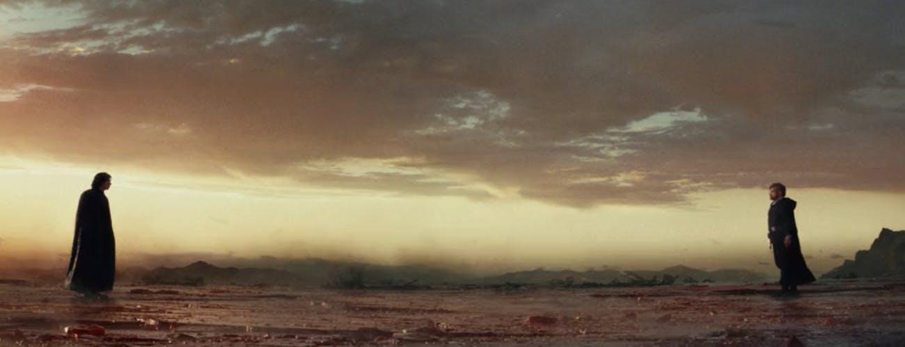 Kylo Ren versus Luke Skywalker in 'The Last Jedi'