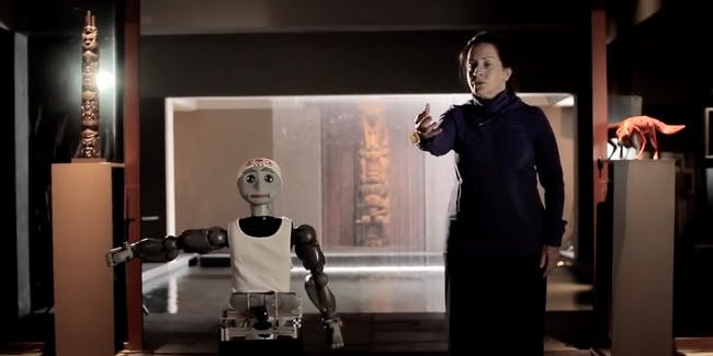 In theory, this is what an assistive robot supporting a stroke victim would look like.