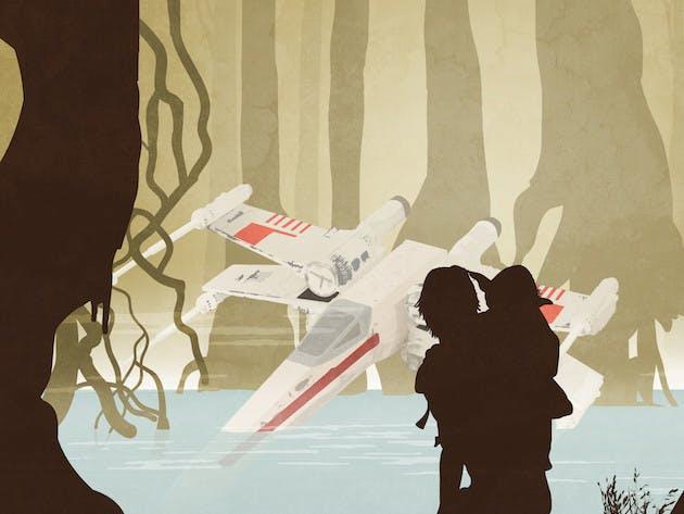 Star Wars poster luke skywalker yoda