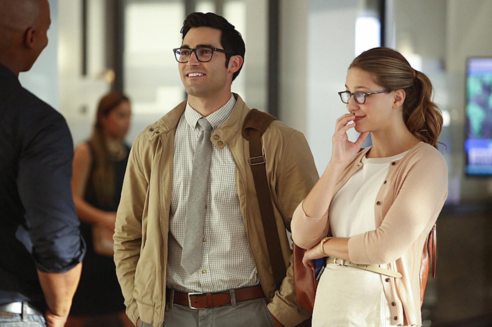 Kara Danvers and Clark Kent in the Season 2 premiere of 'Supergirl