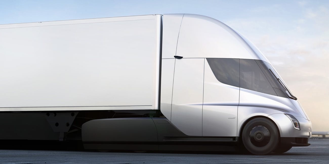 The Tesla Semi truck.