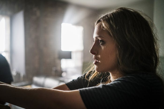 "Carly Chaikan as ""Darlene"" in 'Mr. Robot' Season 2, episode 6."