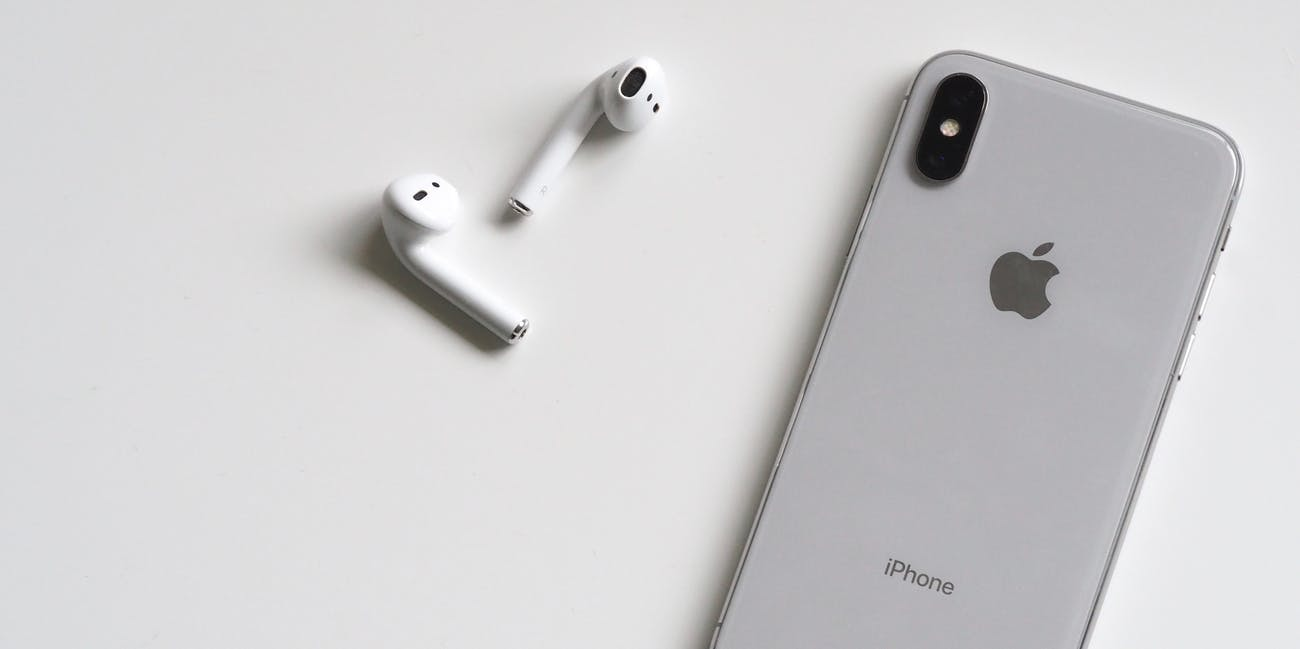 Silver Iphone X With Airpods - Credit to https://toolstotal.com/