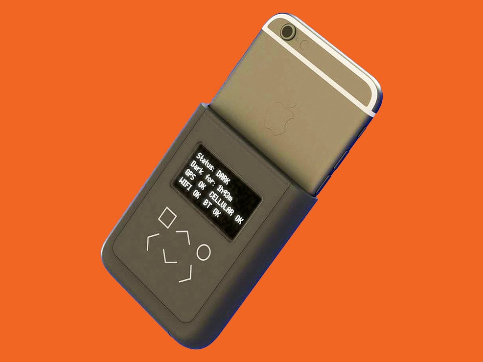 An iPhone case that would ensure the iPhone in your pocket doesn't broadcast your personal data? Here's the mock-up.