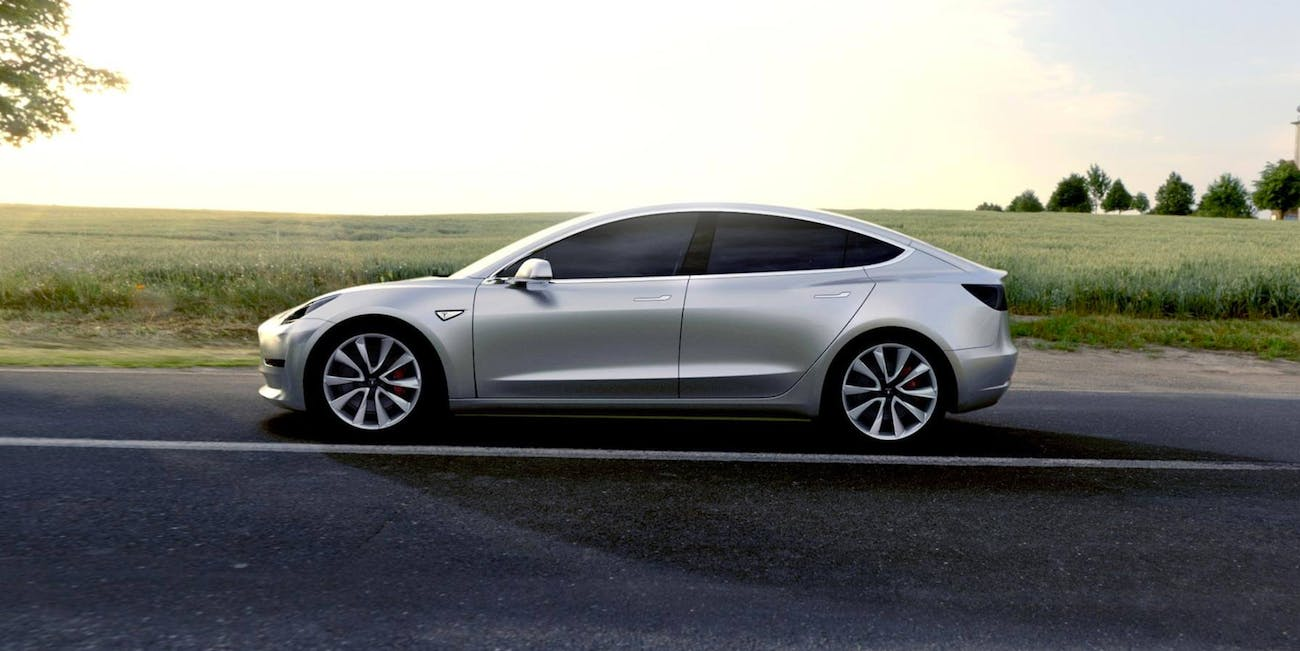 Tesla Model 3 Prototype Photo Hints At Pre Order Color Options