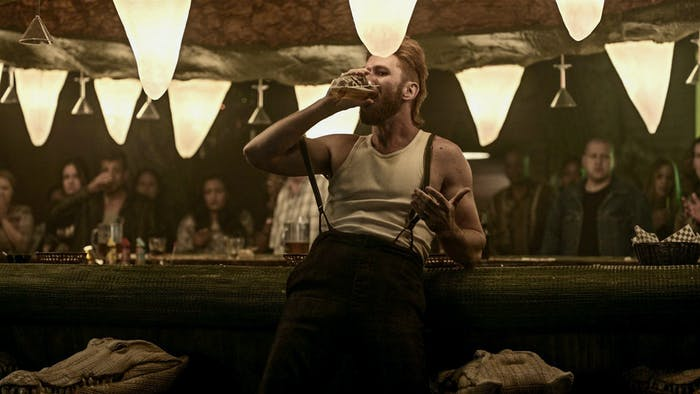 Pablo Schreiber as Mad Sweeney in 'American Gods'