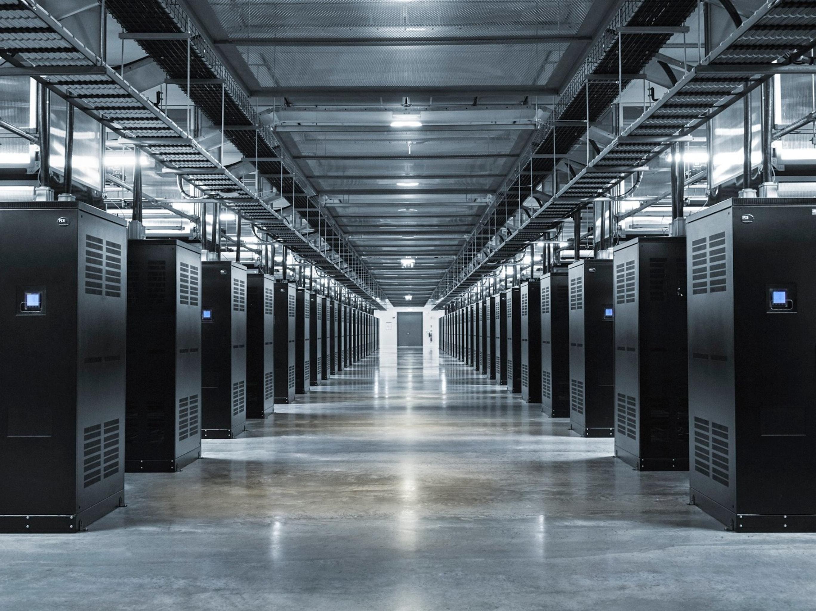 "The data center's ""main hall."""