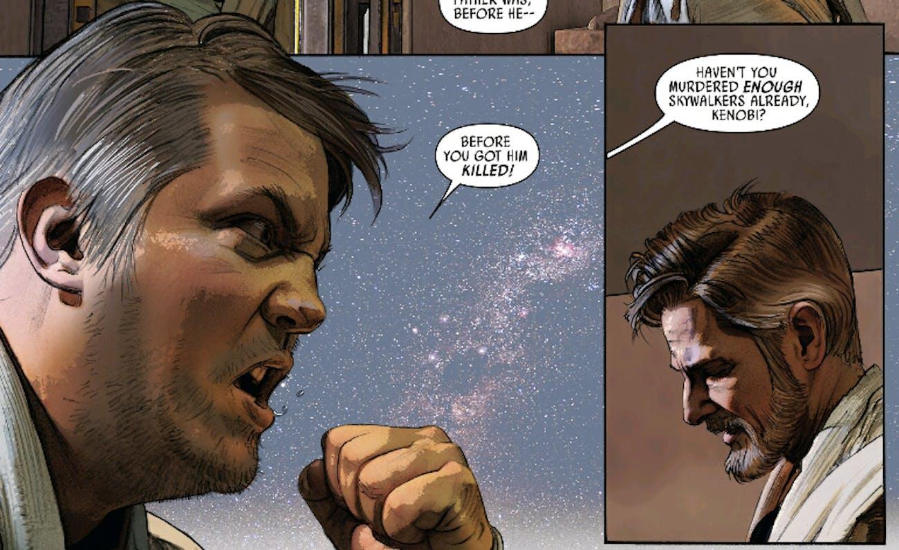 Owen Lars tells Ben Kenobi where to stick his lightsaber. (Marvel Comics, 2016)