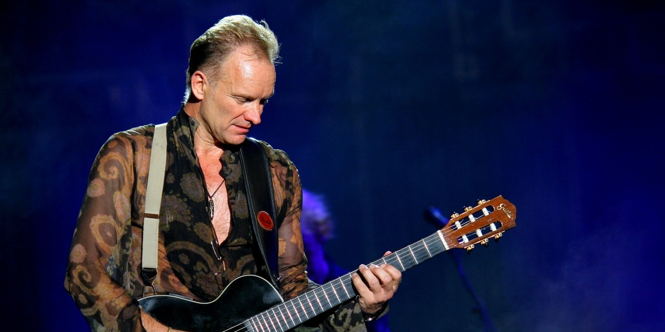 Sting live in Milan in 2006.