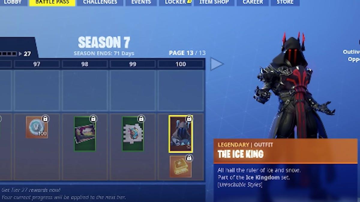 Fortnite Season 7 Battle Pass Wraps Gun Skins Skins Ice King - fortnite season 7 battle pass wraps gun skins skins ice king pets inverse