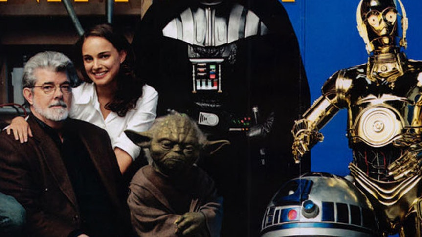 George Lucas with Natalie Portman on the cover of 'Vanity Fair' ahead of the release of 'Revenge of the Sith'