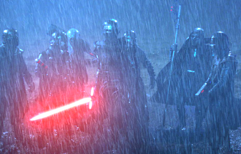 The Knights of Ren in Rey's flashback Force vision.