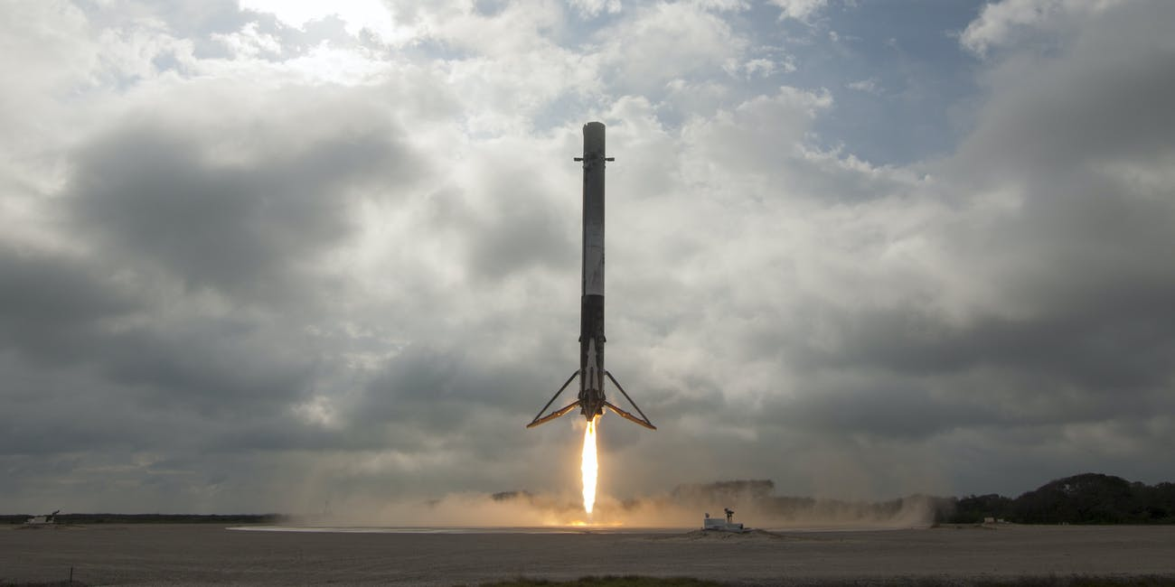 February 2017 SpaceX landing at LZ-1 in Florida