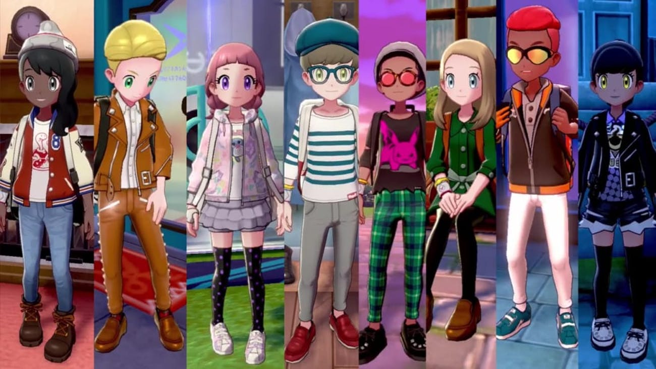 pokemon sword and shield outfits