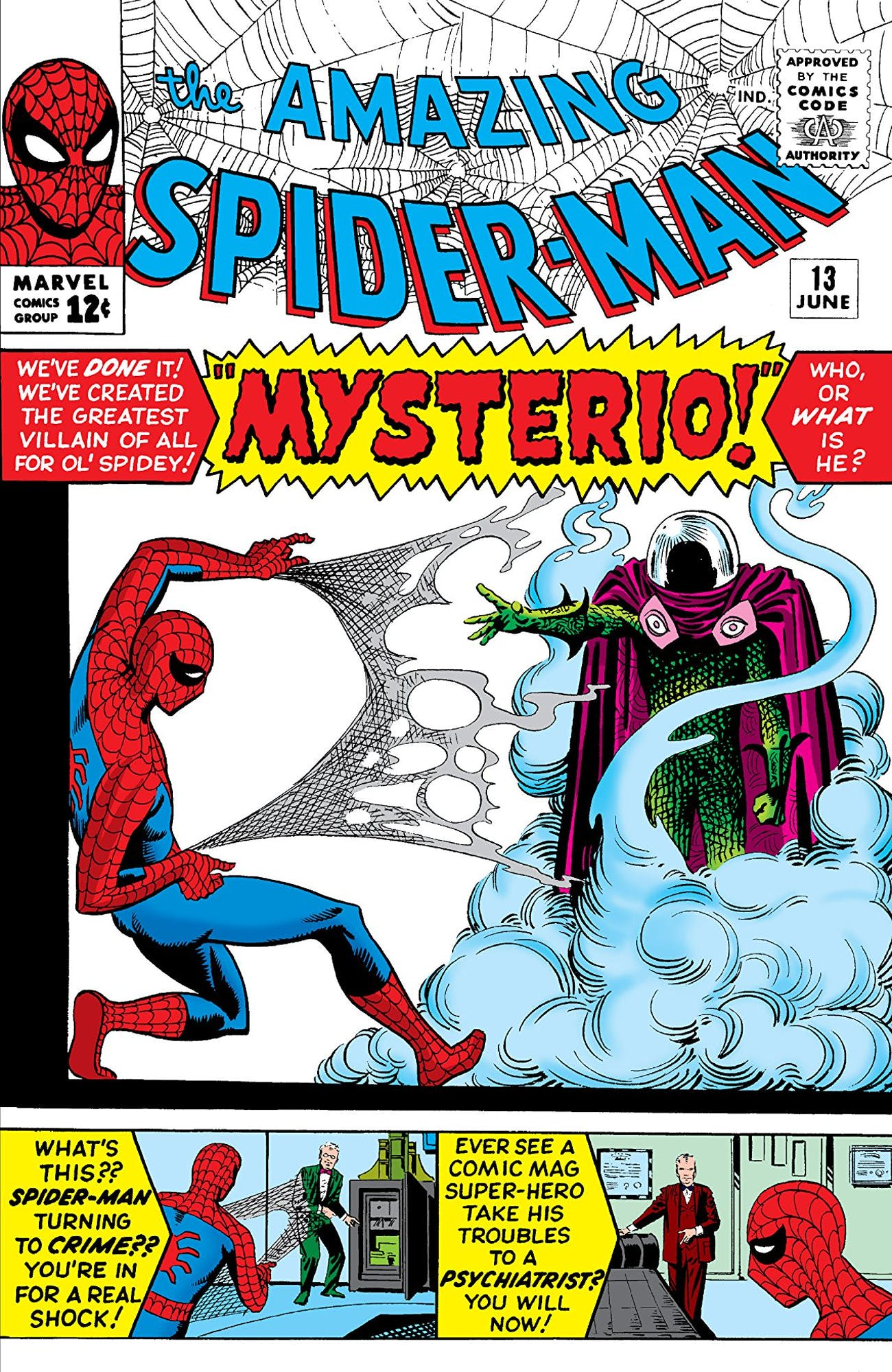 Image result for amazing spider-man mysterio debut