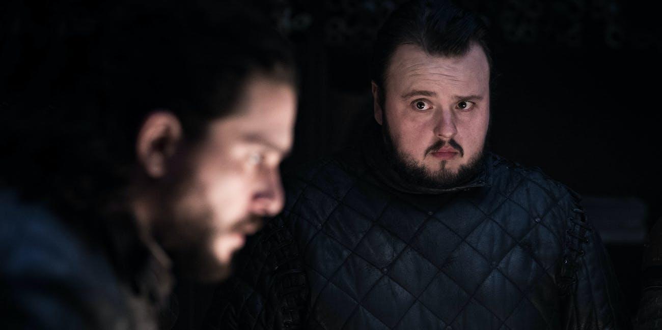 Jon Snow Samwell Tarley HBO Game of Thrones Season 8