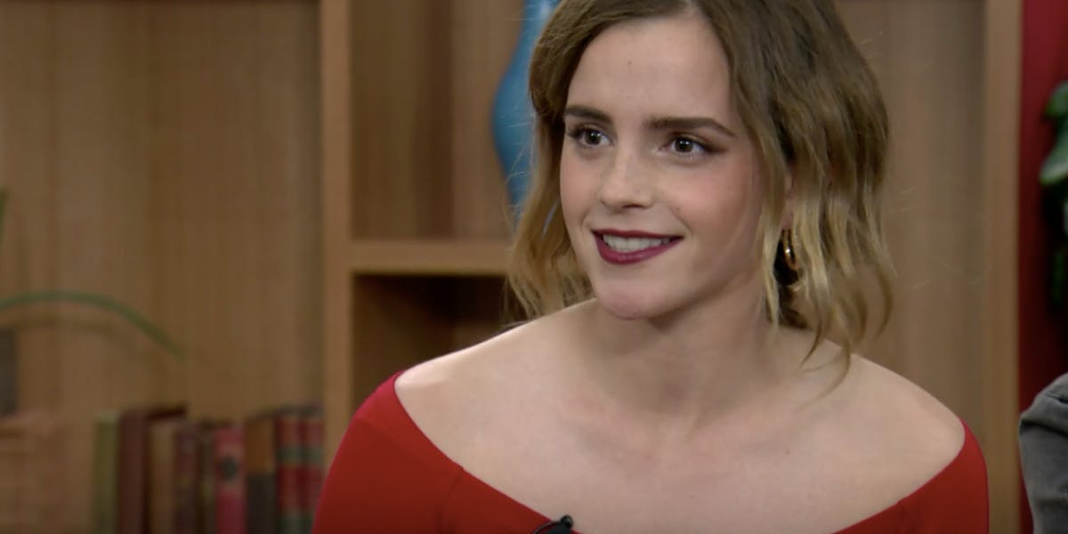 Emma Watson discusses her new film The Circle at Twitter headquarters in San Francisco.