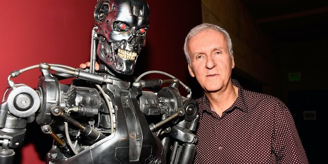 HOLLYWOOD, CA - OCTOBER 15:  Director James Cameron attends the American Cinematheque 30th Anniversary Screening Of 'The Terminator' Q+A at the Egyptian Theatre on October 15, 2014 in Hollywood, California.  (Photo by Frazer Harrison/Getty Images)