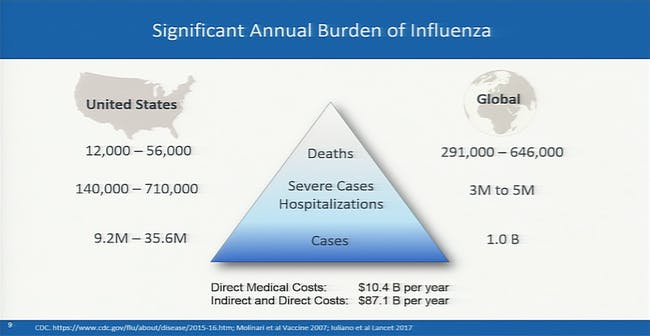 Burden of flu.