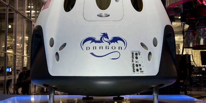 The Dragon V2 or Crew Dragon.