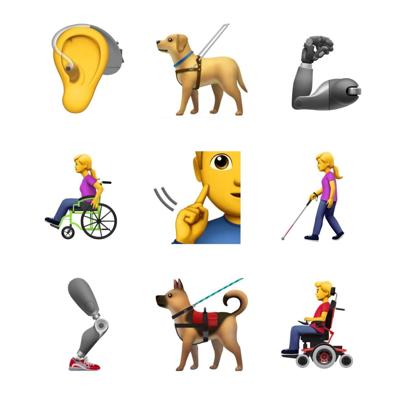 Accessibility emojis