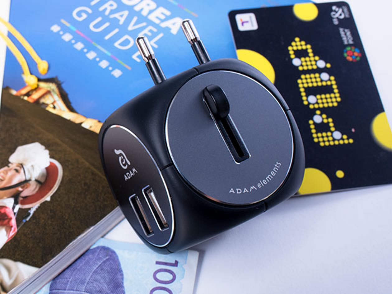 The world's smallest travel adapter lets you get a charge in 150 countries.