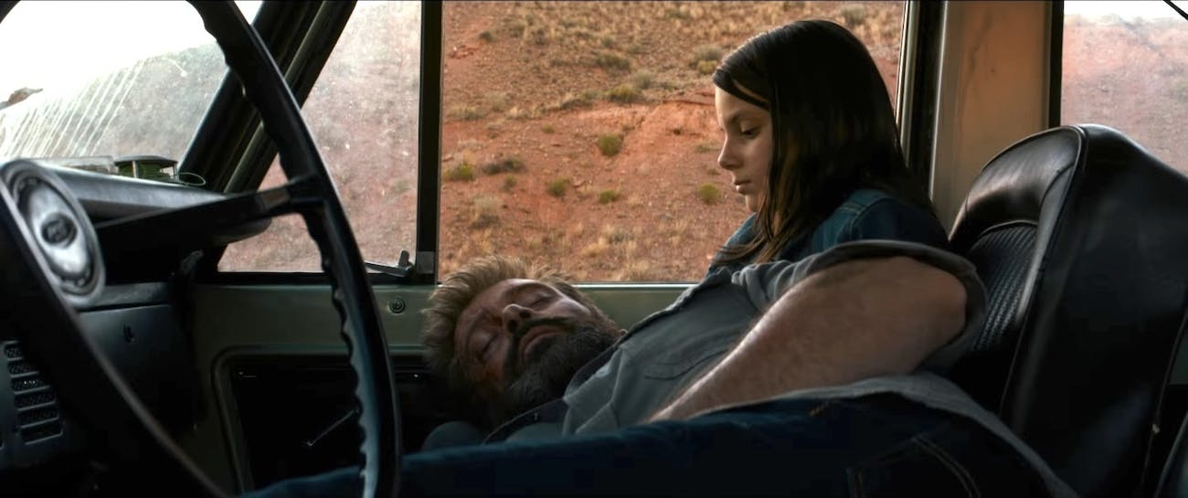 Especially towards the end of 'Logan,' who's taking care of who?