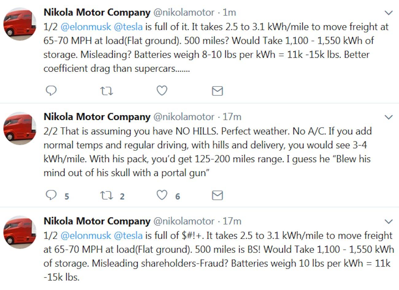 Tweets from the Nikola company.
