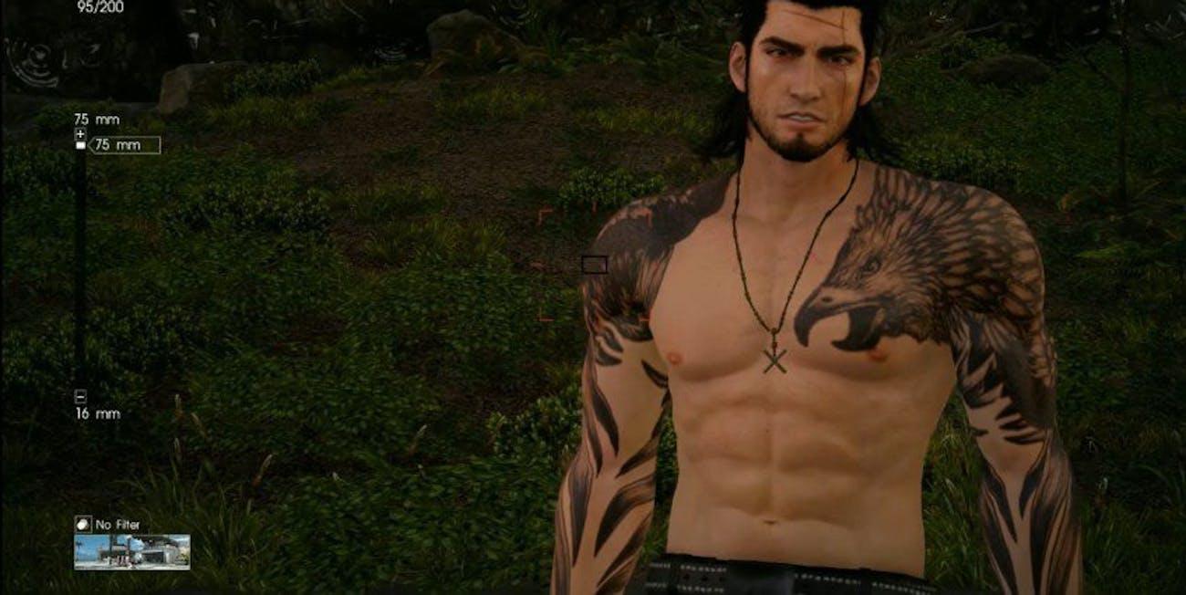 ffxv gladio shirtless