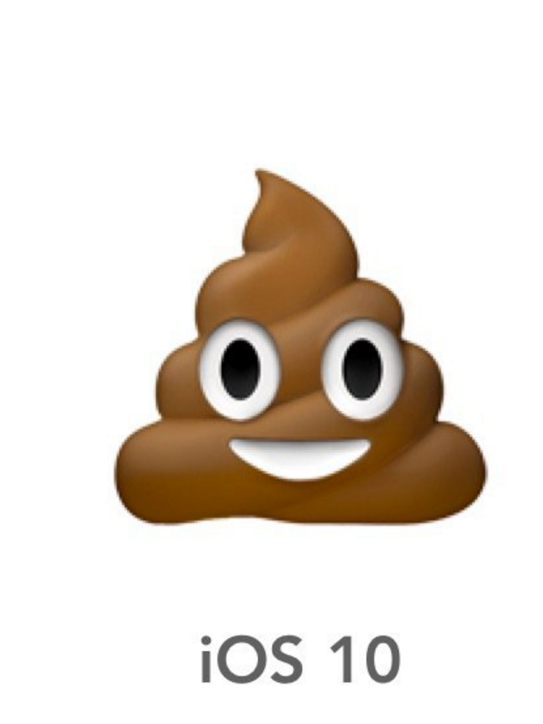 The poo emoji looks different in iOS 10.